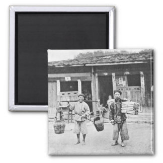 Chinese Hawkers, c.1870 (b/w photo) Magnet
