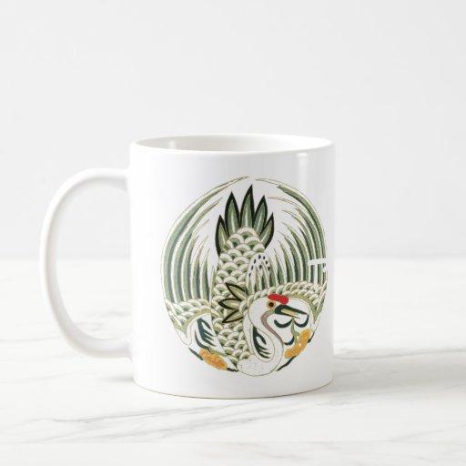 Chinese Heron Folklore Bird Art Coffee Mugs