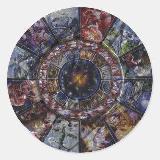 Chinese Horoscope Zodiac Wheel Sitckers Classic Round Sticker