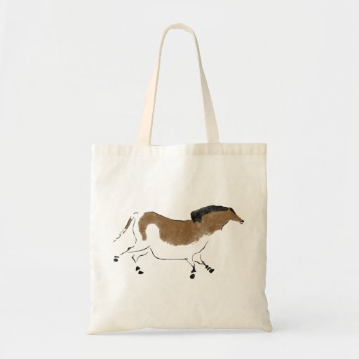 Chinese Horse Tote Bags
