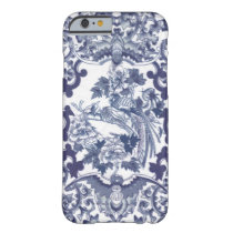 Chinese inspired blue pattern with birds toile barely there iPhone 6 case