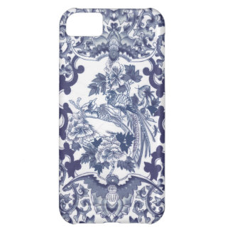 Chinese inspired blue pattern with birds toile iPhone 5C covers