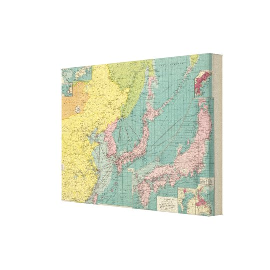 Chinese, Japanese ports Canvas Print
