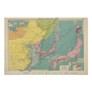 Chinese, Japanese ports Poster