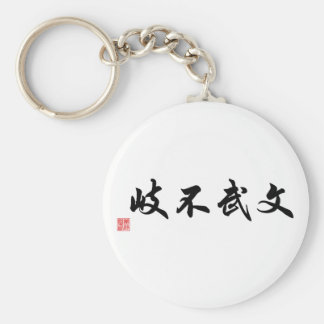 Chinese / Japanese Traditional Calligraphy Tag Keychain