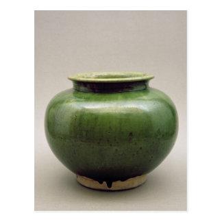 Chinese jar, Yueh ware, Six Dynasties Postcard