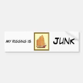 Chinese Junk Bumper Sticker