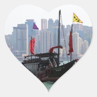 Chinese junk, Hong Kong 2 Heart Sticker