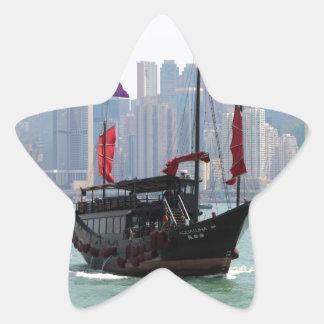 Chinese junk, Hong Kong 2 Star Sticker