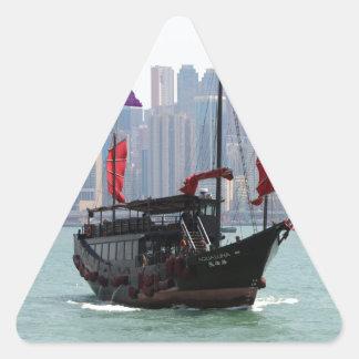 Chinese junk, Hong Kong 2 Triangle Sticker