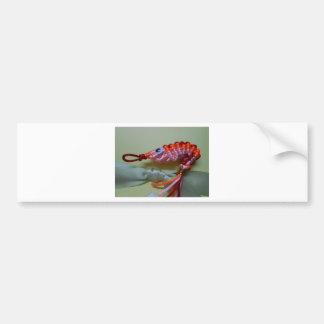 chinese knot orange shrimp bumper sticker