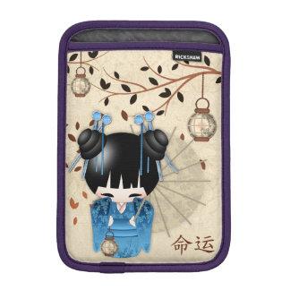 Chinese Kokeshi Doll the calligraphy says Destiny iPad Mini Sleeve