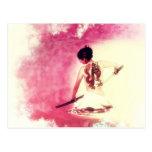 Chinese Lady Samurai by Shawna Mac Postcard