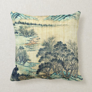 Chinese Landscape 1730 Throw Pillow