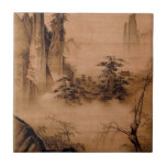"""Chinese Landscape - Ma Yuan Tile<br><div class=""""desc"""">Dancing and Singing (Peasants Returning from Work) by Ma Yuan - 1160-1225</div>"""