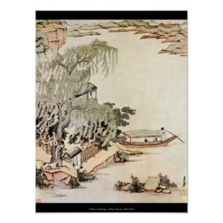 Chinese Landscape – Ming Dynasty 1630-1650 Poster