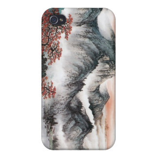 Chinese Landscape Painting iPhone Case --- Sunrise iPhone 4 Case