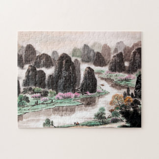 Chinese Landscape Watercolor Jigsaw Puzzle