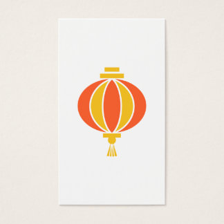 Chinese lantern business card