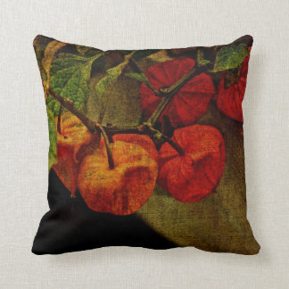Chinese Lantern Fruits Throw Pillow