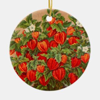 Chinese Lantern Plant Christmas Tree Ornaments