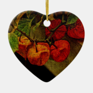 Chinese Lantern Plant With Fruit Christmas Ornament
