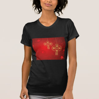 Chinese Lantern with Flowers T-Shirt