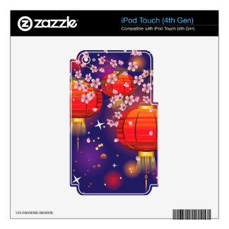 Chinese Lantern with Sakura Branch 3 iPod Touch 4G Skin