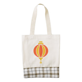 Chinese lantern zazzle HEART tote bag