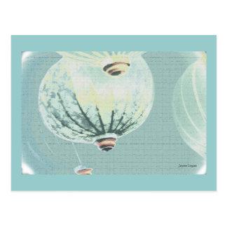 Chinese Lanterns Art, TBA image, template Postcard