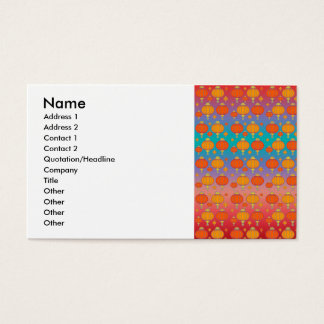 Chinese lanterns business card