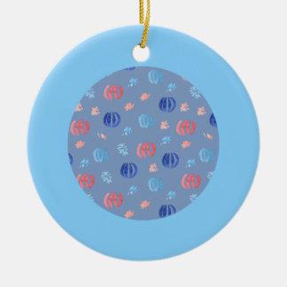 Chinese Lanterns Circle Ornament