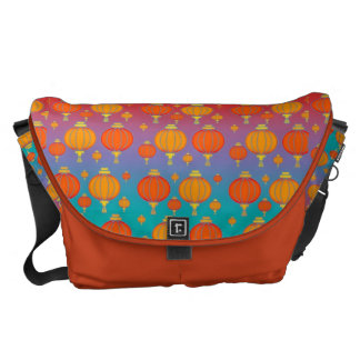Chinese lanterns courier bag