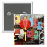 Chinese lanterns in China Button