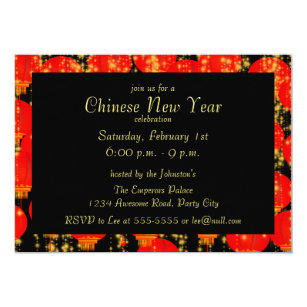 chinese lanterns invitation