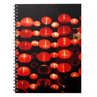Chinese Lanterns Spiral Notebooks