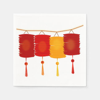Chinese Lanterns Paper Napkins