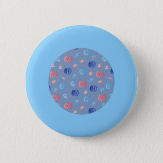 Chinese Lanterns Standard Round Button