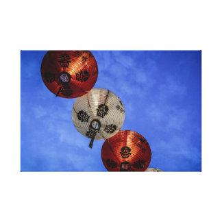 Chinese lanterns vibrant canvas print