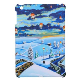 Chinese lanterns winter landscape painting iPad mini cases
