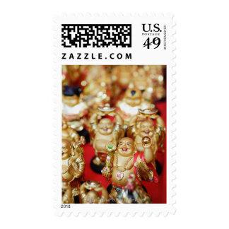 Chinese Laughing Buddhas Stamp