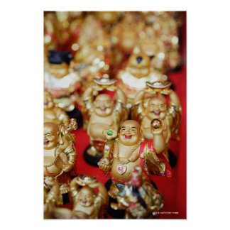 Chinese Laughing Buddhas Poster
