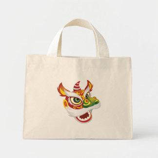 Chinese Lion Head Mini Tote Bag