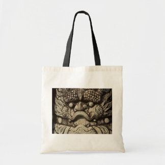 Chinese Lion Statue Guarding Buddhist Temple Tote Bag