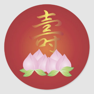 Chinese Longevity Birthday Sticker