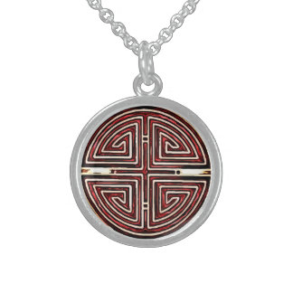 Chinese Longevity Symbol Sterling Silver Necklace
