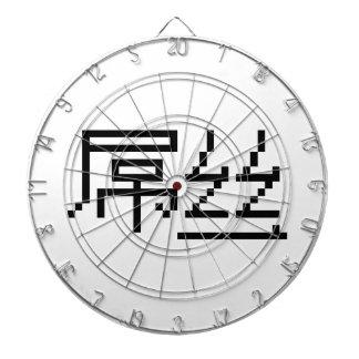 Chinese Loser / Diaosi 屌丝 Hanzi MEME Dartboard With Darts