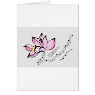 Chinese Lotus Card