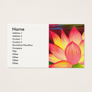 Chinese Lotus Water Lily Flower Art - Multi Business Card