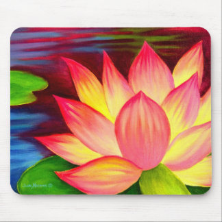 Chinese Lotus Water Lily Flower Art - Multi Mouse Pad